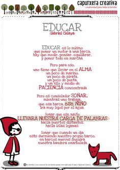 Educar, Poema de Gabriel Celaya