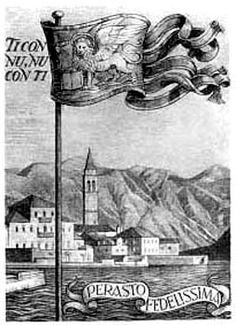 Il Gonfalone di Venezia a Perasto
