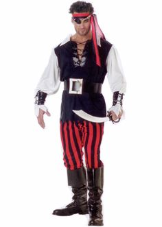 Adult Cutthroat Pirate Costume £25.75 : Direct 2 U Fancy Dress Superstore. Fancy Dress For The Whole Family.http://direct2ufancydress.com/adult-cutthroat-pirate-costume-p-3148.html