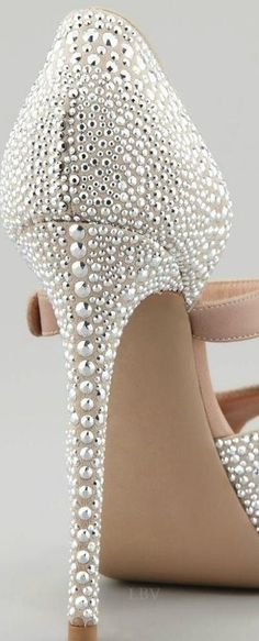 Valentino Silver Studded heels ✿⊱╮  I made some kind of a sound I cannot replicate when I saw these. OH MAMA!!! #valentinowedding