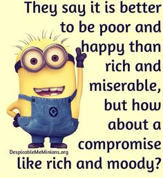 Minions are cute, Adorable and Funny ! Just like Minions, There memes are also extremely hilarious . So here are some very funny and cool minions memes, they will sure leave you laughing for a whi… Funny Minion Pictures, Funny Minion Memes, Cute Minions, Minions Quotes, Funny Jokes, Funny Sayings, Minions Minions, Minion Humor, Minions Friends