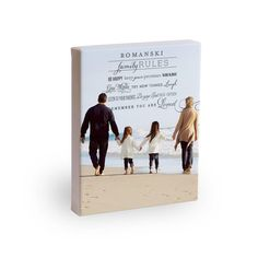 Our Family Rules: 8x10 Gallery Wrapped Canvas. #holiday #gifts