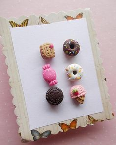 Donut Earrings Set Dessert Earrings Food Earrings Ice