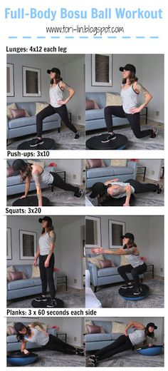 A full-body workout that will leave your limbs shaking - literally! The Bosu Ball tests your balance while working your core in each and every exercise. Great workout for home or in the gym!