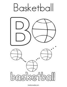 Basketball connect the dots worksheet from PrintActivities