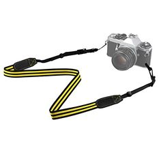Introducing TARION Camera Shoulder Neck Strap Belt for SLR DSLR Mirrorless Digital Camera Nikon Canon Sony Pentax Black  Yellow. Great Product and follow us to get more updates!
