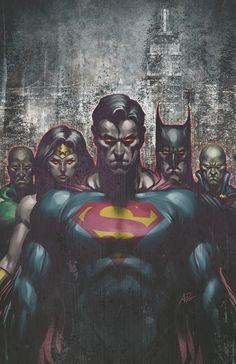 """Justice League by Stanley """"Artgerm,"""" Lau"""
