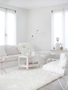 Decoración de interiores: blanco y minimalista