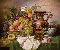 Натюрморты с фруктами художника  Elia Jozsa