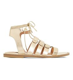 DUNE Lorelli Metallic-Leather Gladiator Sandals. #dune #shoes #sandals
