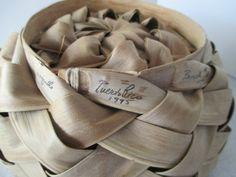 Palm Frond Basket Vintage Puerto Rico Souvenir by HobbitHouse