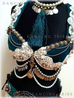 Tribal Fusion Bra Tribal Belly Dance Bra Top by DancingTribe