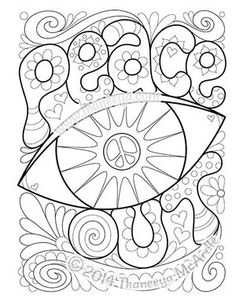 the peace and love coloring book features 30 groovy illustrations to celebrate your inner hippie peace signs flowers rainbows owls lava lamps and more