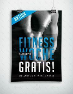 Fitness Schnupperwoche Gratis - Plakat, P-FP-0072 | Sport & Fitness | Plakate | Werbeprodukte | Despri