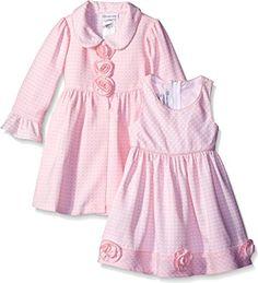 Bonnie Jean Girls' Check Jacquard Dress and Coat Set