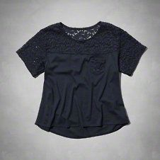 girls easy lace pocket tee