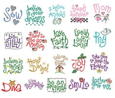INSTANT DOWNLOAD - Sayings Machine Embroidery Designs - $3.99 set