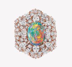 Victoire de Castellane firma la nuova collezione Dior et d'Opales Dior Jewelry, Opal Jewelry, I Love Jewelry, Jewelry Design, Jewelry Box, Color Harmony, Pretty Rings, October Birth Stone, Opal Gemstone