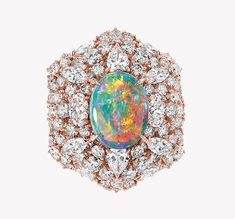 Victoire de Castellane firma la nuova collezione Dior et d'Opales Dior Jewelry, Opal Jewelry, I Love Jewelry, Jewelry Design, Jewelry Box, Color Harmony, October Birth Stone, Opal Gemstone, Opal Rings