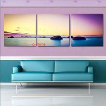 Dipinta a mano moderna pittura a olio su tela dipinti 3 pezzo tela arte della parete paesaggio immagine sulla parete di arte per soggiorno(China (Mainland))