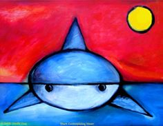 Shark Contemplating Viewer Art :)