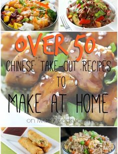 Over 50 Chinese Take Out Recipes to Make at Home! Such an amazing collection! Get over 50 Chinese Take Out At Home Recipes for you to recreate! Healthy Chinese Recipes, Asian Recipes, Healthy Recipes, Oriental Recipes, Oriental Food, Healthy Food, Restaurant Recipes, Dinner Recipes, Food Porn