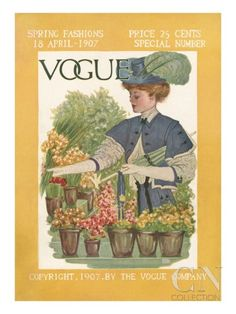 Vogue Cover - April 1907.  Artist not named.  Poster Print at the Condé Nast Collection