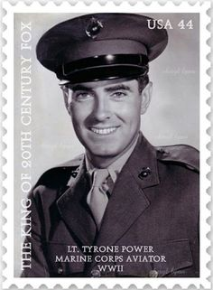 Proposed Tyrone Power postage stamp by Cheryl Lynn: see Facebook for details.