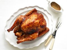Get this all-star, easy-to-follow Roast Turkey with Mustard-Maple Glaze recipe from Bobby Flay