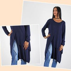 New split front detail jumper in store and online today . One size £29.99 WWW.PINKCADILLAC.CO.UK