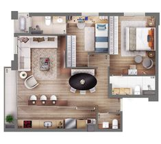 Sims 4 House Plans, Modern House Plans, Small House Plans, House Floor Plans, Small Studio Apartments, Small Apartment Design, Sims House Design, Small House Design, Tiny House Layout