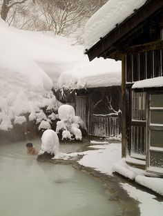 Nyutou Onsen Japan.  (a hot spring resort in the mountains of Akita Prefecture) I could so survive the long winter if I had a hot spring to go to!