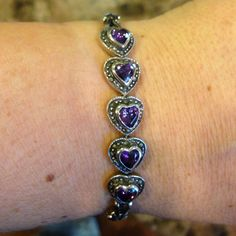 Beautiful Sterling Silver Bracelet With Marcasite