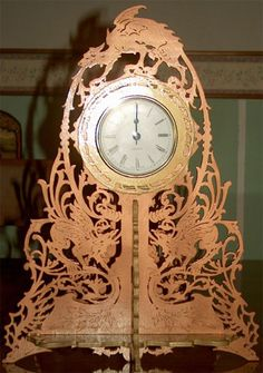 The Dragons Clock, scroll saw fretwork pattern