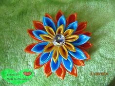 RĘKODZIEŁO  MADE BY STANIOLEK: Nowy kwiatuszek kanzashi:)