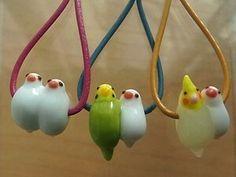 Glass bird necklace