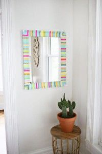 Washi Tape Crafts - DIY Washi Tape Mirror Frame - Wall Art, Frames, Cards, Pencils, Room Decor and DIY Gifts, Back To School Supplies - Creative, Fun Craft Ideas for Teens, Tweens and Teenagers - Step by Step Tutorials and Instructions http://diyprojectsforteens.com/washi-tape-crafts