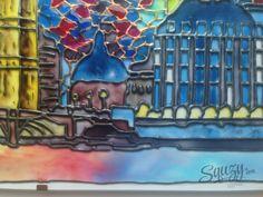 Мастер-класс по витражной росписи: Ночной Лондон.