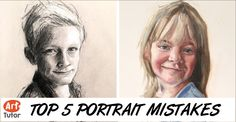 portrait drawing Do you struggle getting a likeness when drawing or painting a portrait? You could be making one or more of the top 5 mistakes that tutor Peter Keegan sees in a lot of his students. Watercolor Portrait Tutorial, Watercolor Portraits, Painting Portraits, Watercolour, Realistic Drawings, Art Drawings, Drawing Techniques, Drawing Tips, Drawing Hair
