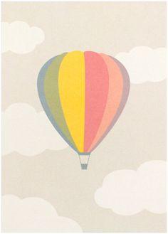 Hot Air Balloon 10 pack Invitations by InkpadDesign