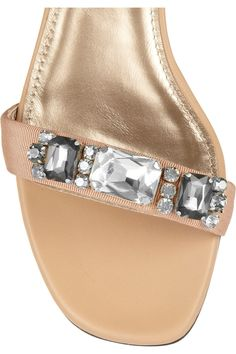 Lanvin Crystal-embellished leather sandals