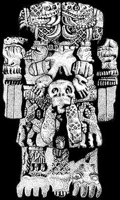 Quetzacoatl, sculpture, Snake, Viper, RattleSnake, Rattler, Aztec, Mexican, feathered Serpent