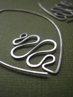 hammered sterling silver