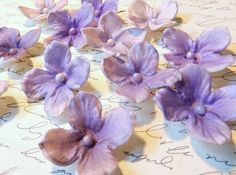 Shades of Purple Sugar Hydrangeas By The by SUGARonTOPsugarart