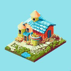 Some more pixel art made by Ben Porter. It is said he went a year making new pixel art everyday.