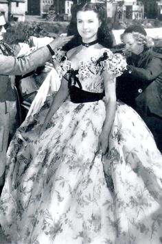 """Vivien Leigh on the set of """"Gone With the Wind"""", 1939"""