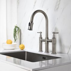 Kitchen Sink Faucets, Kitchen Handles, Kitchen And Bath, Bathroom Faucets, Beautiful Space, Brushed Nickel, Contemporary Style, Modern, Chrome