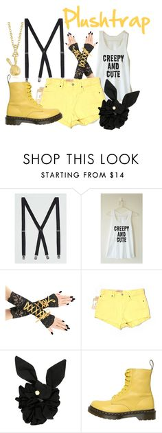 """""""Plushtrap (FNAF)"""" by danielleweaver267 ❤ liked on Polyvore featuring Topman, Denim & Supply by Ralph Lauren, Marc by Marc Jacobs, Dr. Martens, fnaf, fivenightsatfreddys, fnaf4 and plushtrap"""