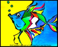 FRED THE FISH at Saratoga Paint & Sip Studio