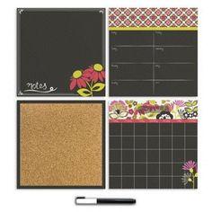 Brewster Home Fashions WallPops Eden 4 Piece Organizer Whiteboard Wall Decal Kit